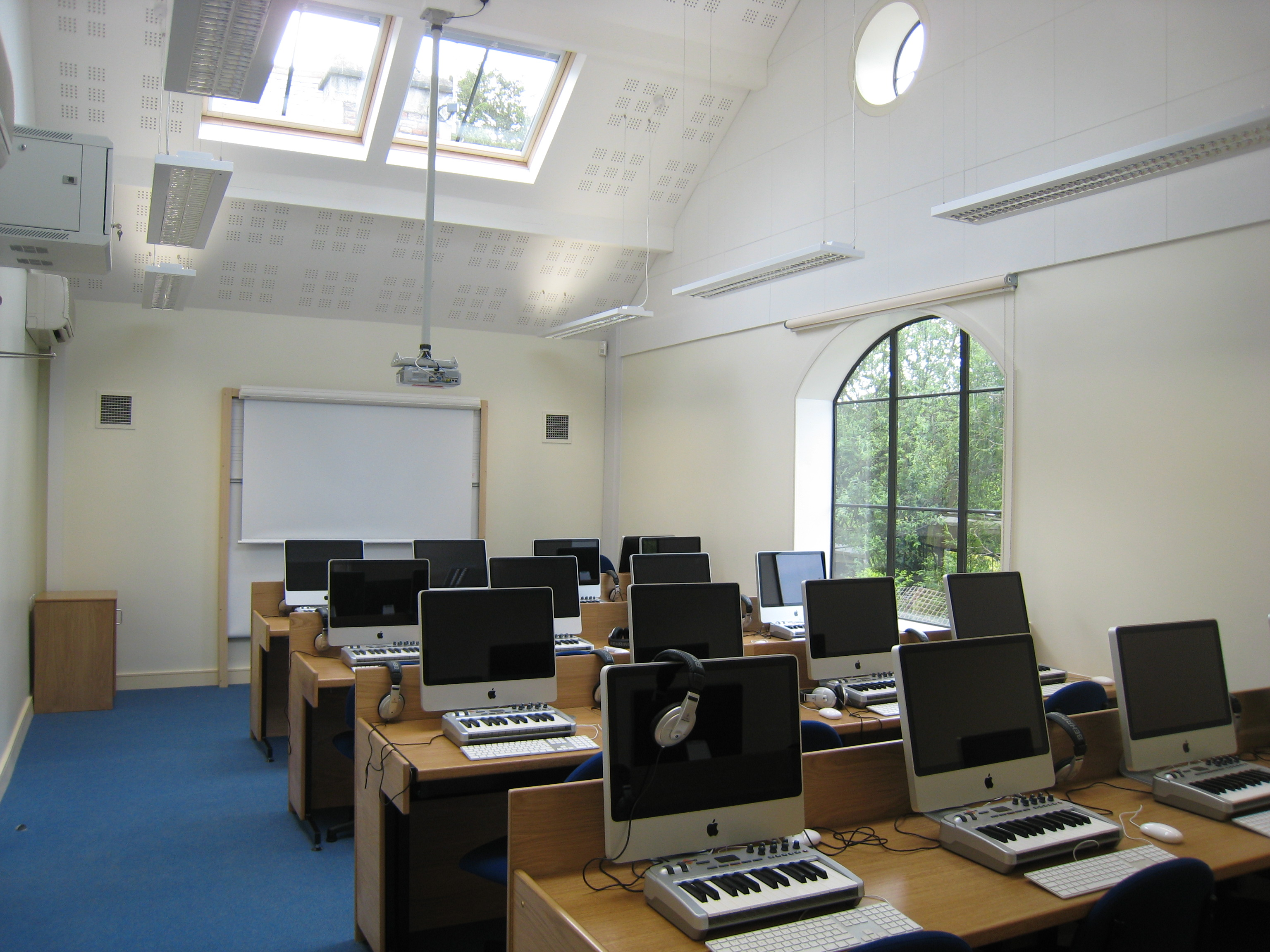 Clifton college music school classroom