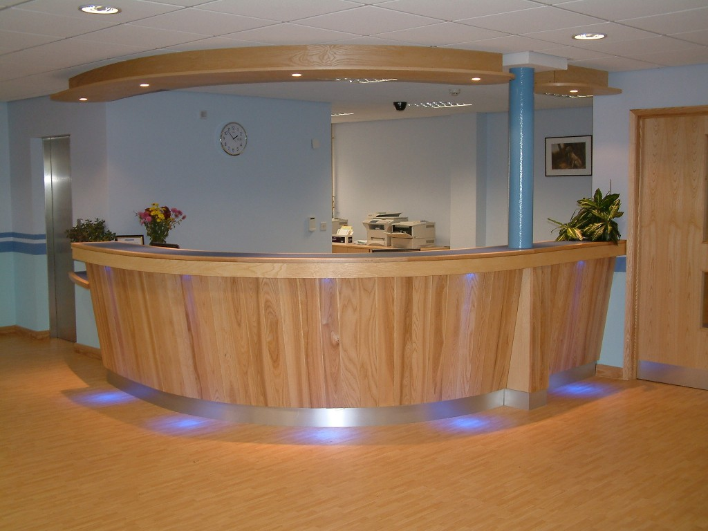 Joinery Reception Counter Christchurch Medical Centre