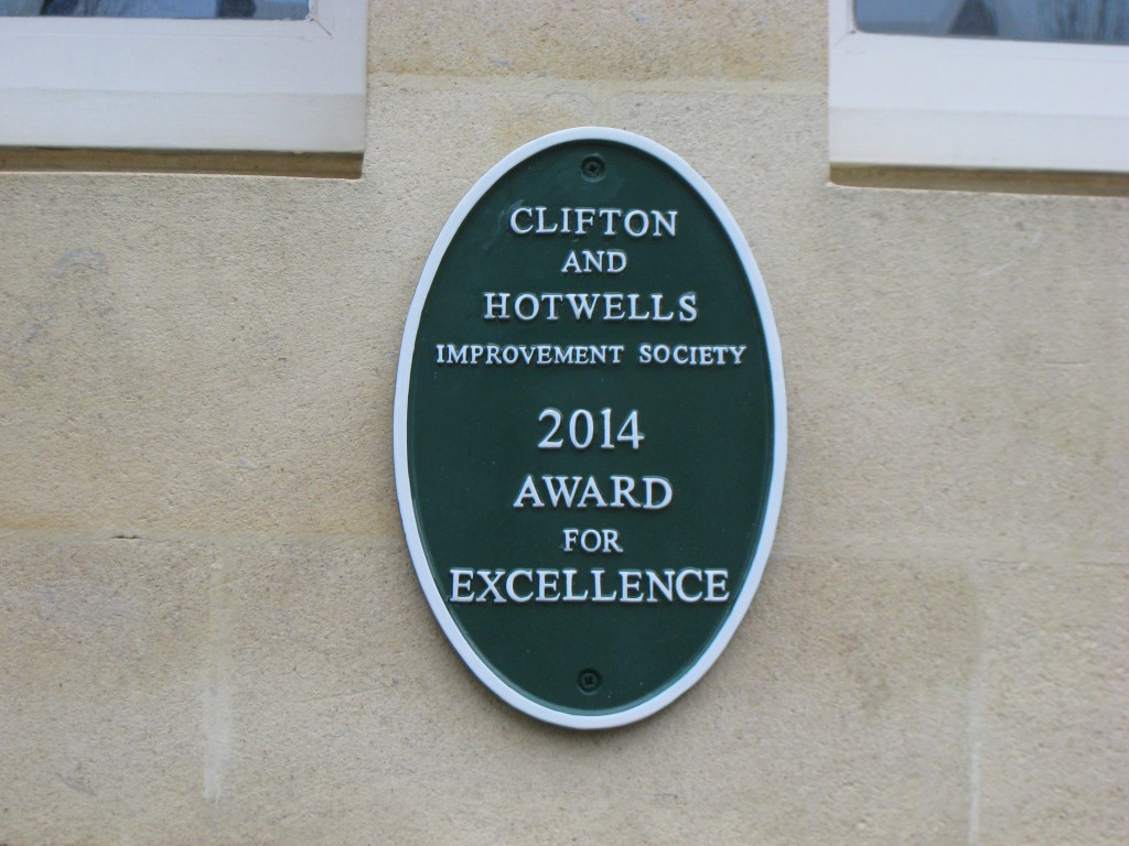 Clifton and Hotwells Improvement Society 2014 Award for Excellence